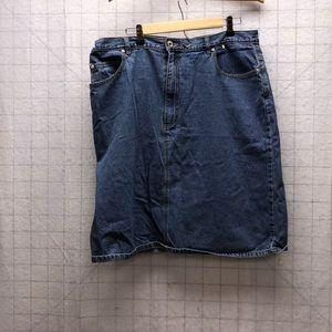 Plus size Denim skirt 20w